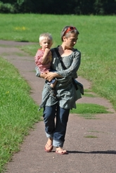 Spaziergänger im Park